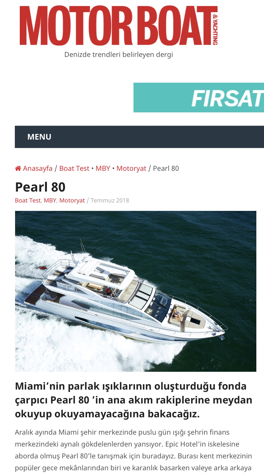 Pearl 80 Boat Test  Motor Boat & Yachting July 2018